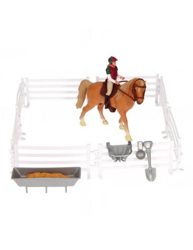Speelset Paard, Ruiter met Accessoires
