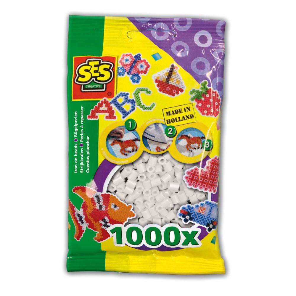 SES Strijkkralen - Wit, 1000st.