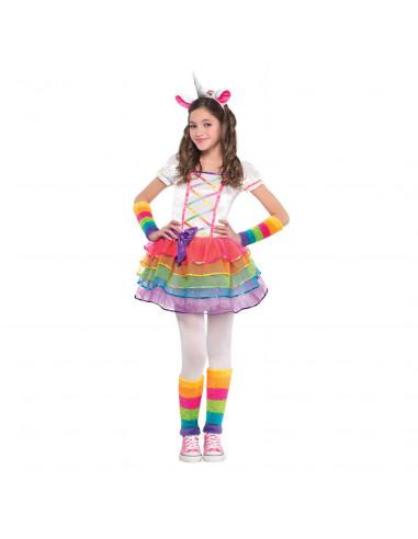 Verkleedset Regenboog Eenhoorn, 3-4 jaar