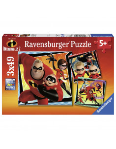 Incredibles 2 Puzzel, 3x49st.