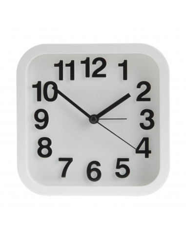 Alarmklok Vierkant Wit