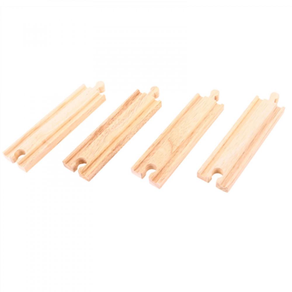 BigJigs houten Rails Recht 4 stuks
