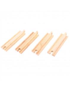 BigJigs houten Rails Recht (4st)