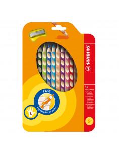 STABILO EASYcolors Linkshandig - Etui 12st. + Puntenslijper