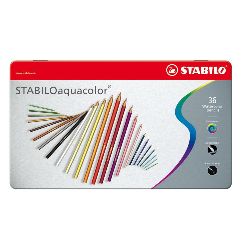 STABILO Aquacolor Metalen Doos, 36st.
