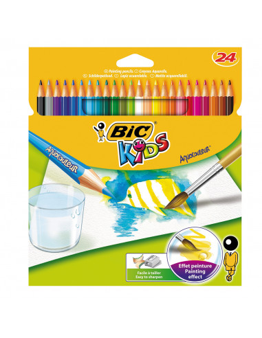 BIC Kids Aquacouleur, 24st. BT