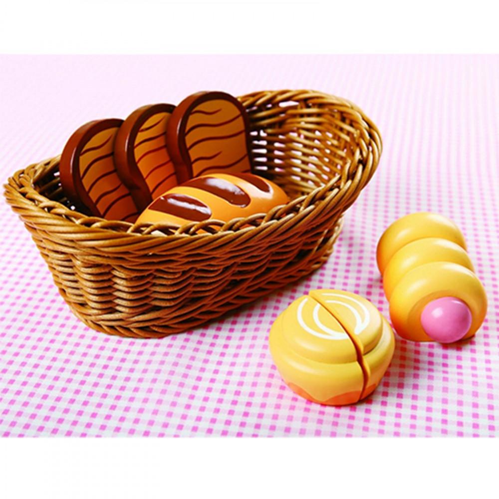 Broodset in mand 7-delig