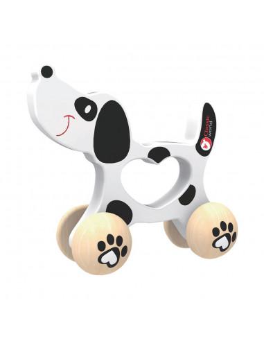 Classic World Houten Duwfiguur Hond