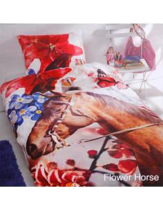 Dekbedovertrek Flower Horse 140 x 200cm