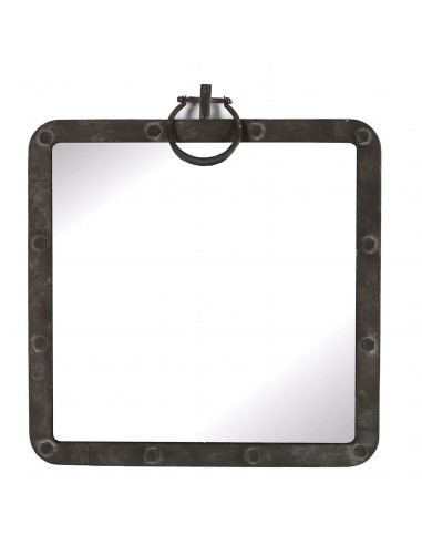 Spiegel Garnet Zwart, 58cm