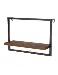 Wandplank Denver Hout Metaal, 35 cm