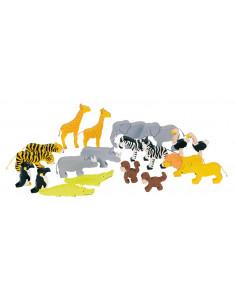 Goki houten Dierentuindieren 20 delig