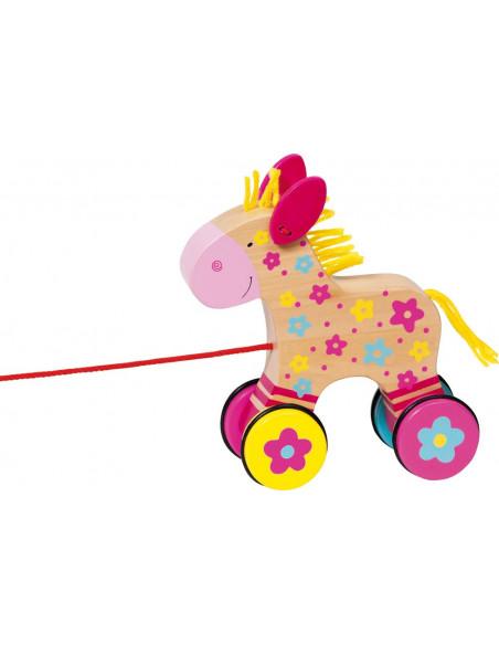Goki houten Trekfiguur Paard - Clara