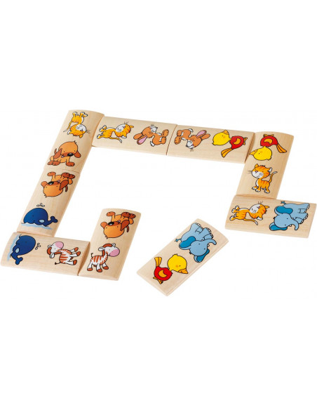 Goki houten Domino Dieren