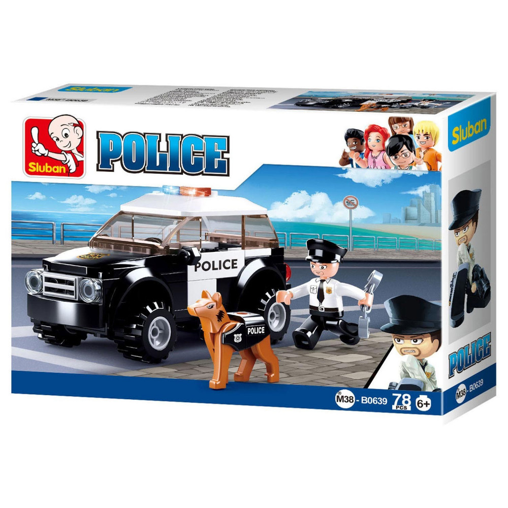 Sluban Politieauto met Hond