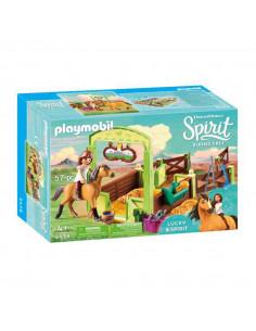 Playmobil Spirit 9478 Lucky & Spirit met Paardenbox