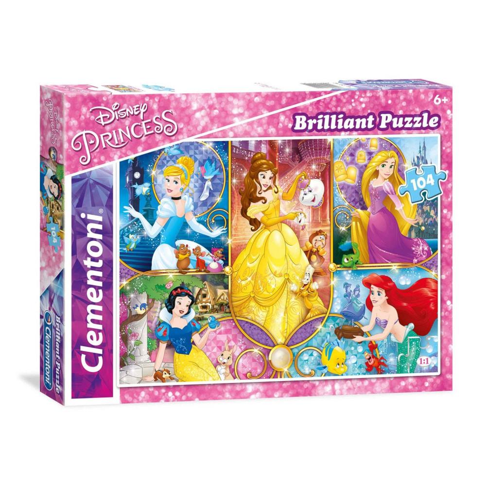 Clementoni Brilliant Puzzel Disney Prinses, 104st.