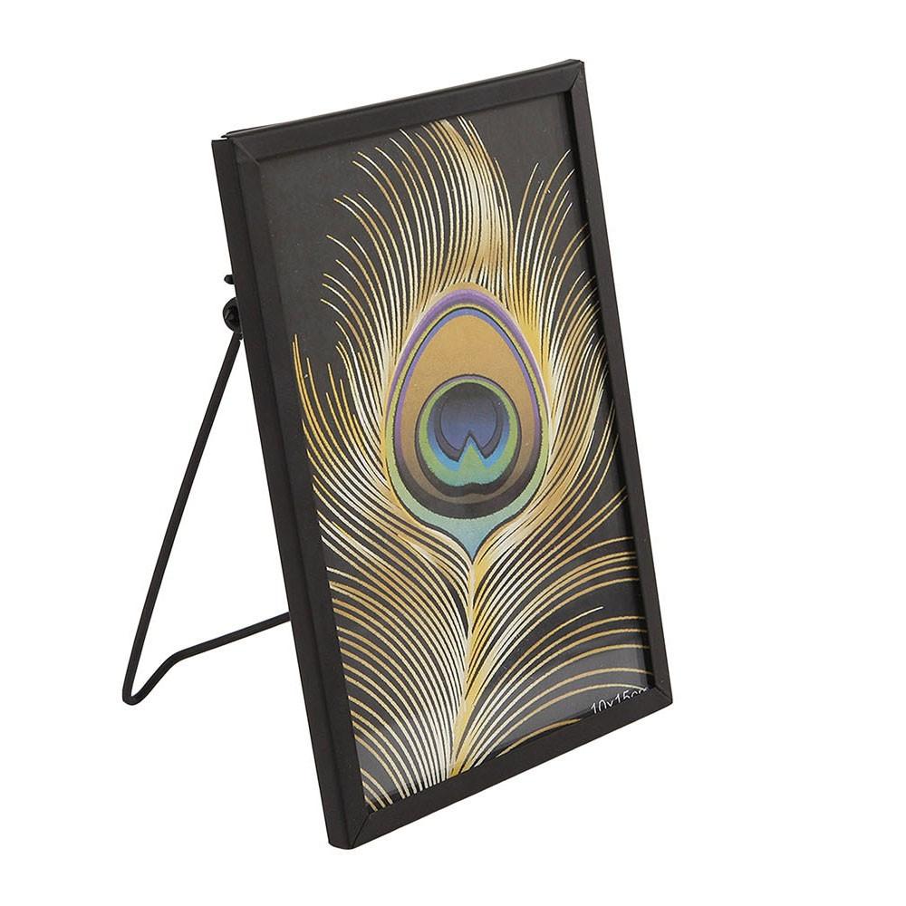 Fotolijst Pauw Metaal Zwart, 10x15cm