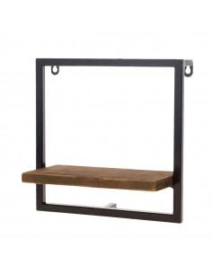 Wandplank Denver Hout Metaal, 25 cm