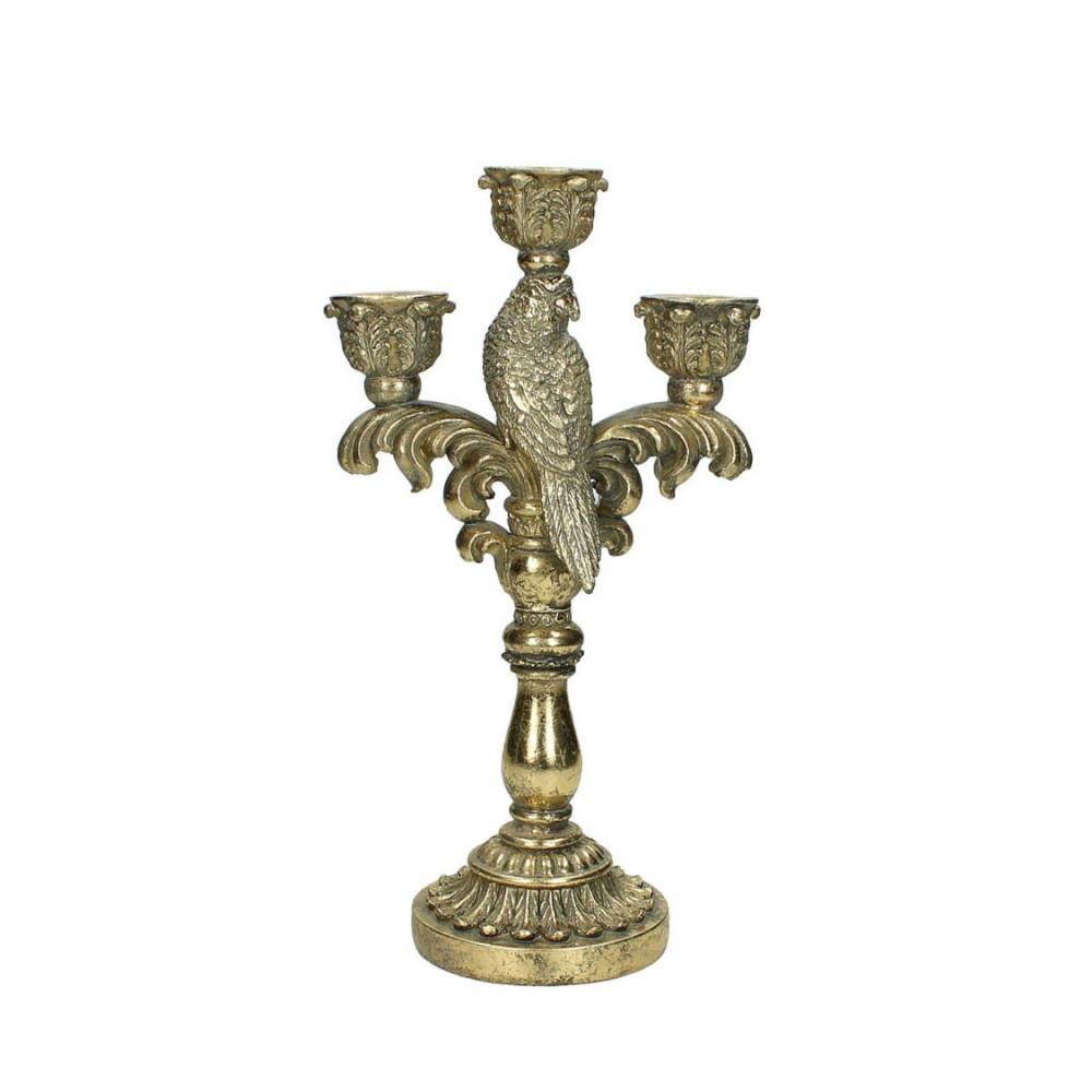 Kandelaar voor 3 Kaarsen Goud