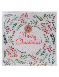 Servetten Merry Christmas, 20st.