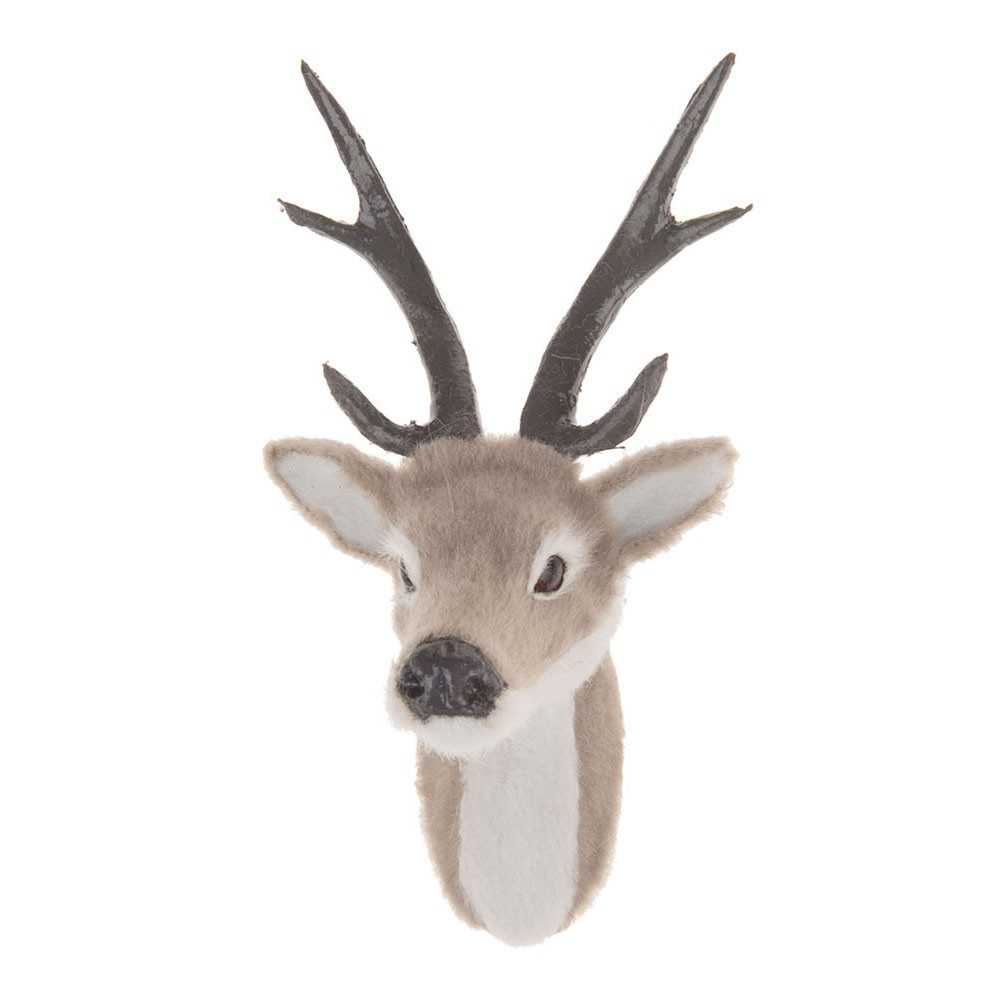 Pluche Hertenkop, 16 cm