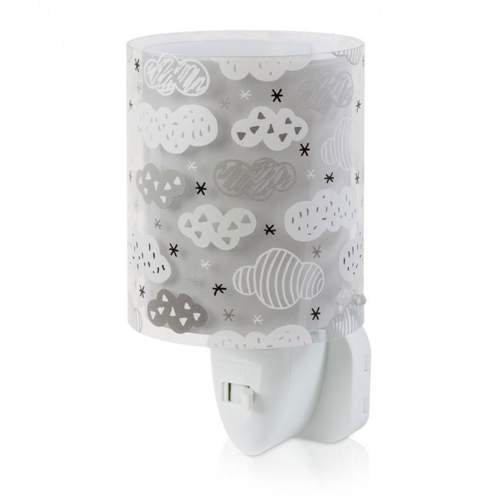 Dalber Nachtlamp LED Wolken Grijs, 14cm