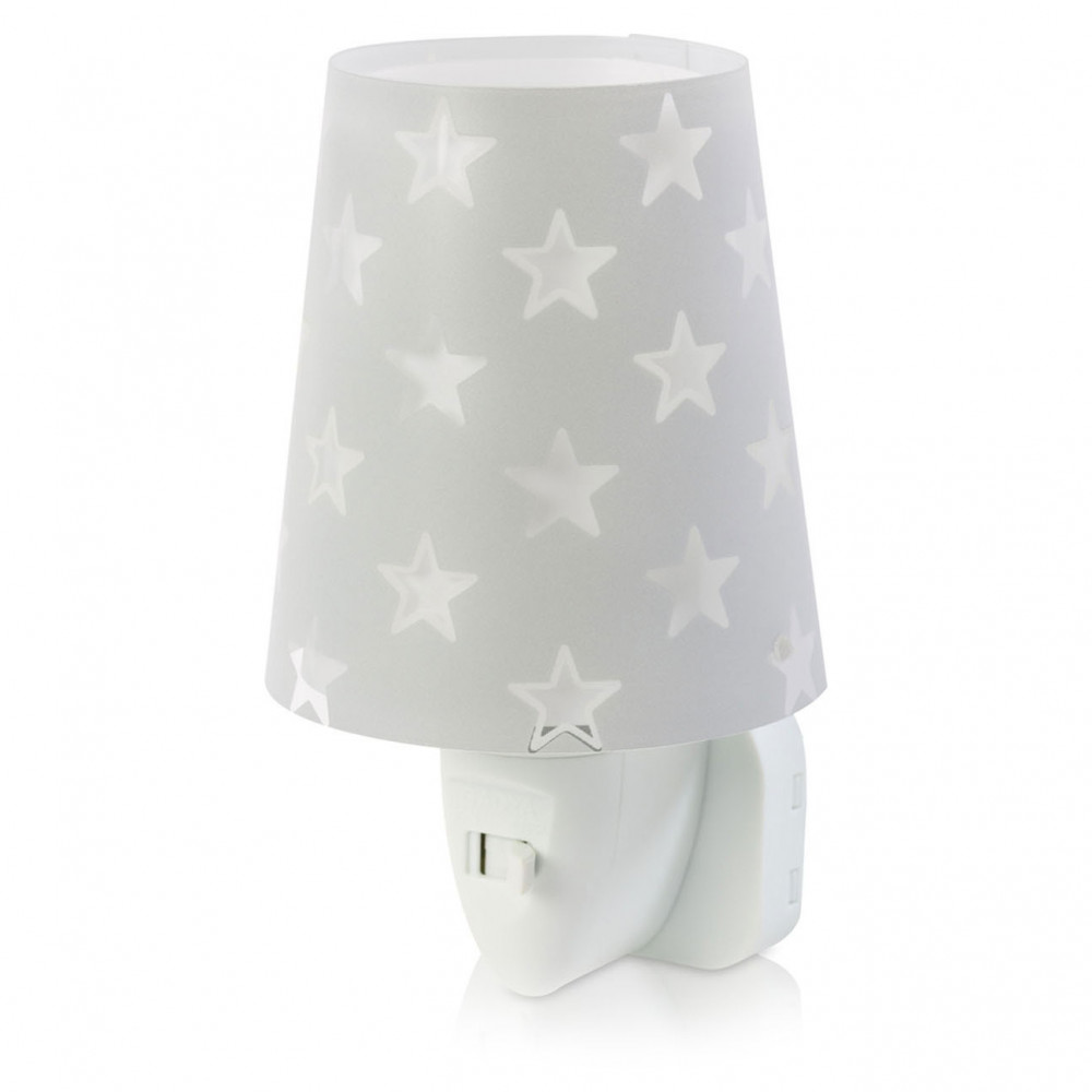 Dalber Nachtlamp LED Sterren Glow in the Dark Grijs, 14cm