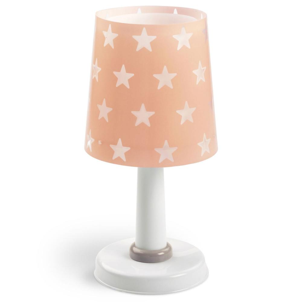 Dalber Tafellamp Sterren Glow in the Dark Roze, 30cm
