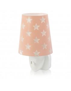 Dalber Nachtlamp LED Sterren Glow in the Dark Roze, 14cm