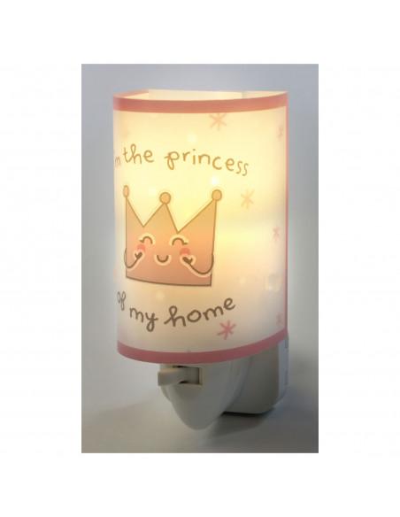 Dalber Nachtlamp Prinses Glow in the Dark Roze, 13cm