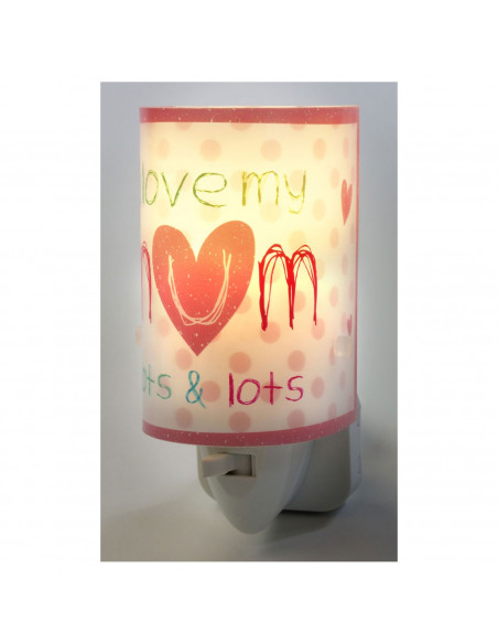 Dalber Nachtlamp Mama Roze, 13cm