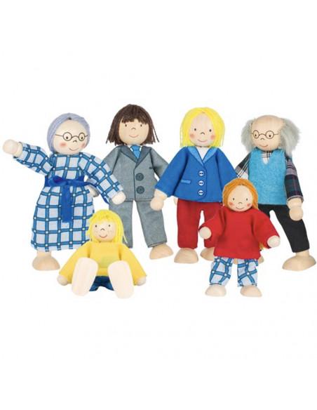 Goki poppenhuispopjes stad familie