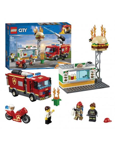 LEGO City 60214 Brand bij het Hamburgerrestaurant