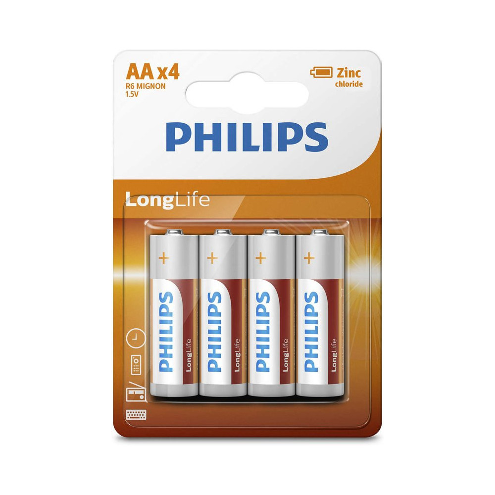 Philips Batterij R6 AA Long Life BT