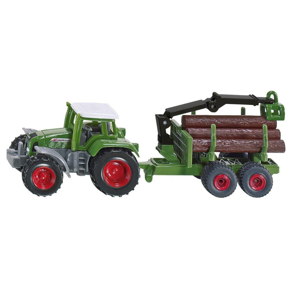 Siku 1645 Tractor Met Bosaanhangwagen 1:72