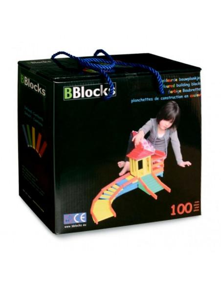 BBlocks Houten Bouwplankjes Kleur 200 delig
