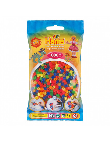 Hama Strijkkralenmix 1 - Neon (051), 1000st.