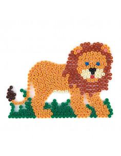 Hama Strijkkralenbordje - Leeuw