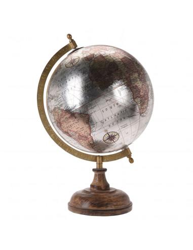Wereldbol op Voet Zilver