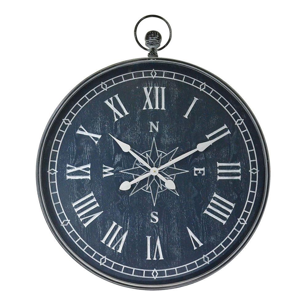 Wandklok 'Kompas' Donker Blauw, 78cm