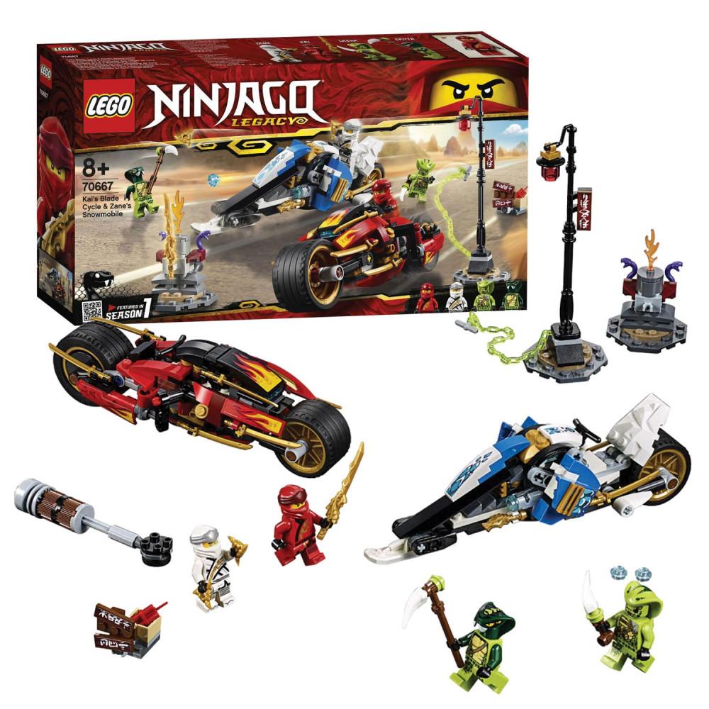LEGO Ninjago 70667 Zwaardmotor Kai & Sneeuwscooter Zane