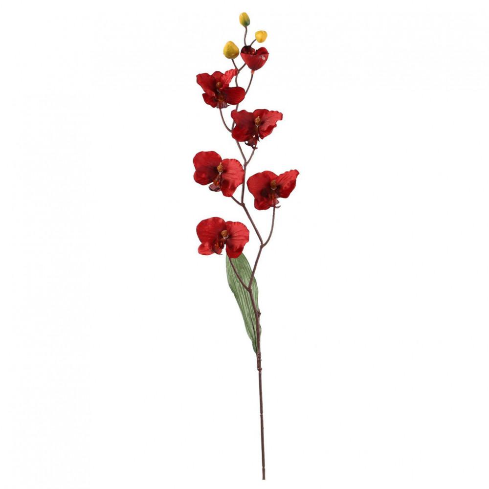 Zijde Kunstbloem 'Phalaenopsis' Orchidee Rood