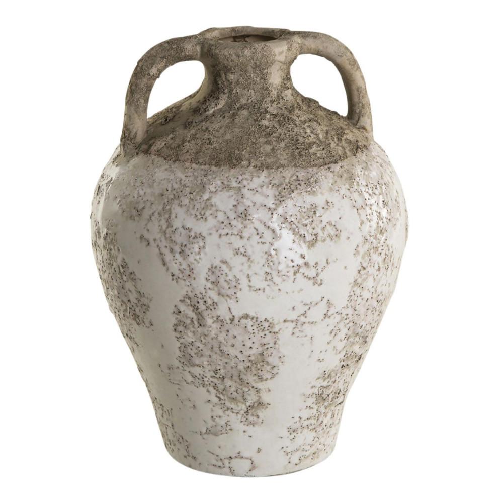Antieke Kruik Marino Wit Geglazuurd, 15cm