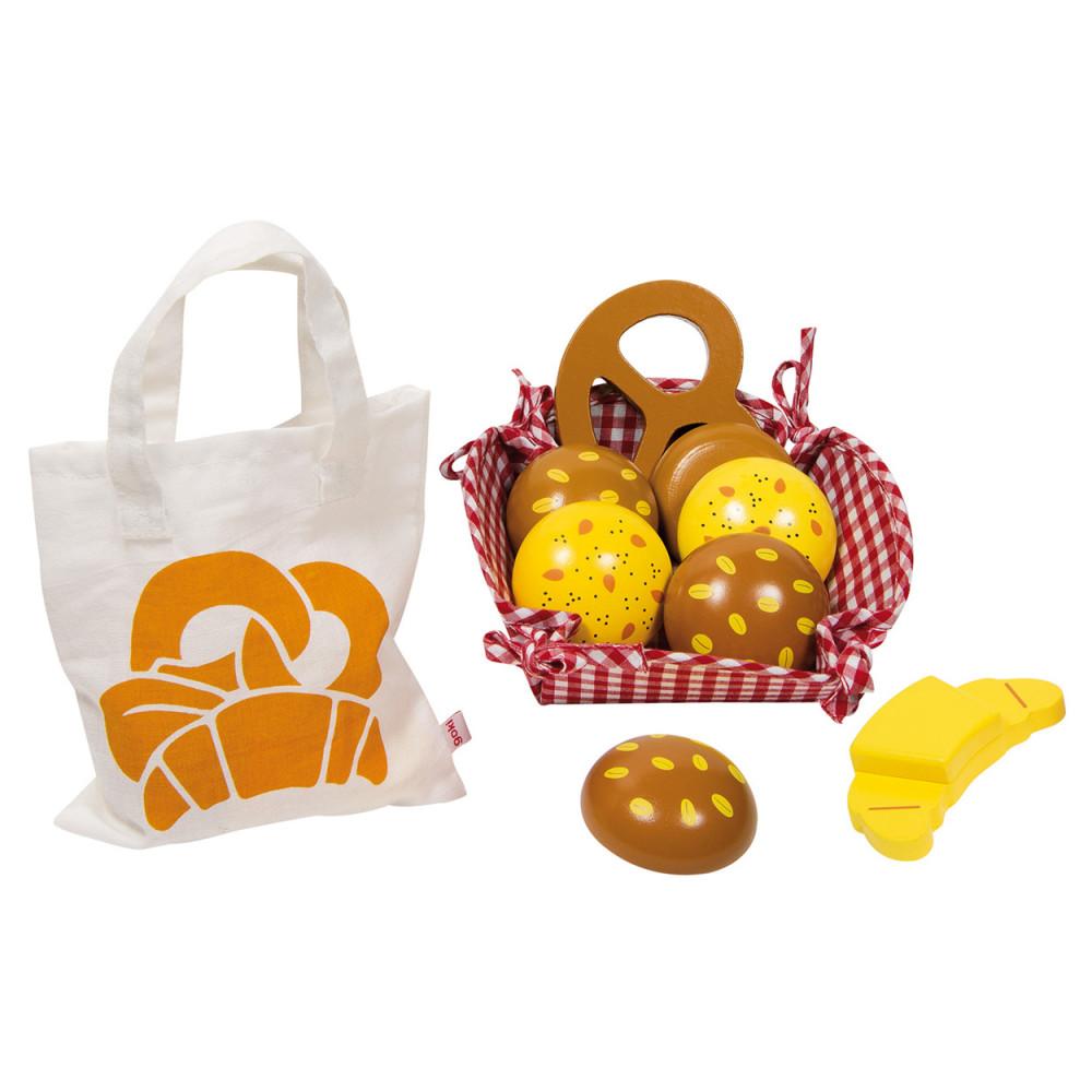 Ontbijtmand/Picknickset met Houten Brood
