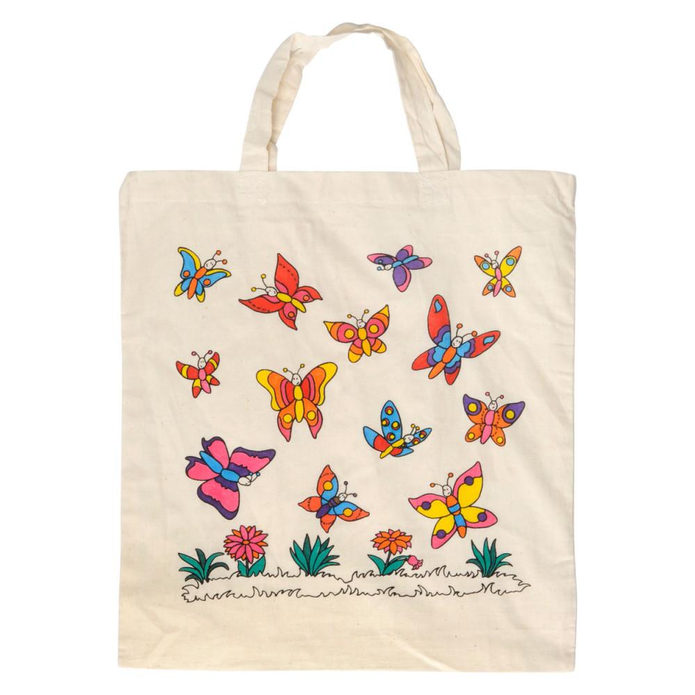 Katoenen Tas Roze : Katoenen tas vlinder kopen houten speelgoed
