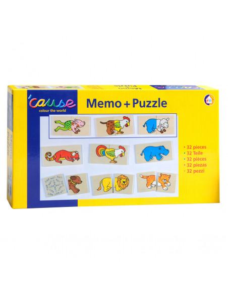 Memo en Puzzel Grappige Dieren