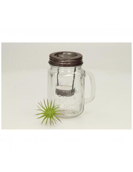 Waxinelichthouder in Drinkglas