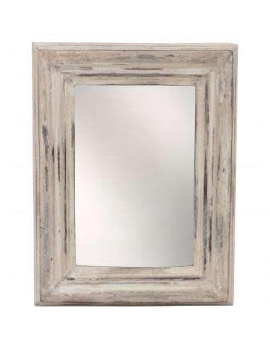 Spiegel Madera Wit Mangohout Rechthoek