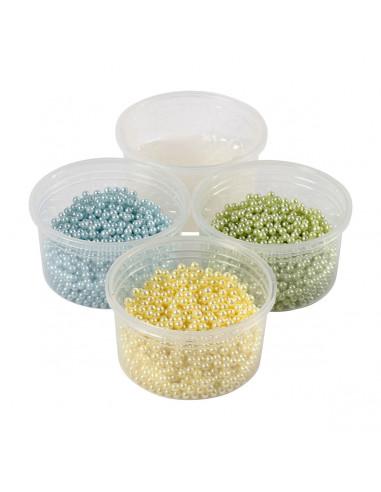 Pearl Clay Set - Blauw, Groen,Geel